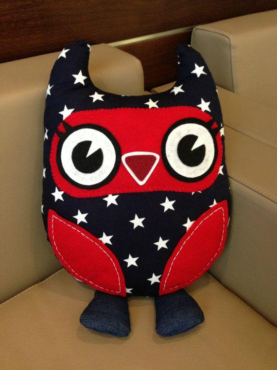 Custom Made Owl Cushion by PrincessAllipops on Etsy, £20.95