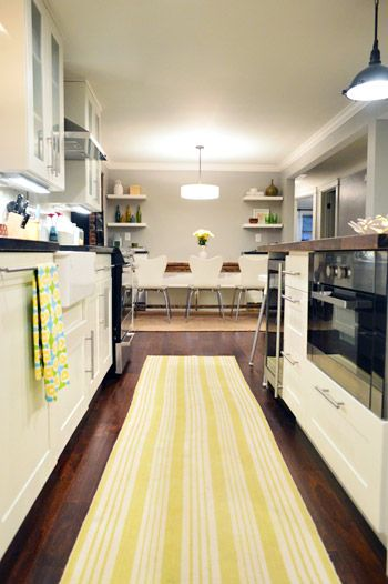 "When I grow up, I want to use gray as the ""background"" color, with a different accent color in each room. I just found my yellow and grey kitchen."
