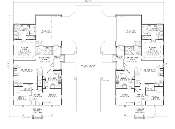 1000 images about home layout multi home on pinterest for Multi family condo plans