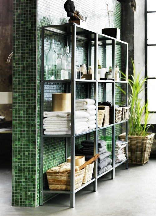 24 best ikea hyllis images on pinterest home ideas ikea hacks and ikea hackers - Ikea bathroom tiles ...