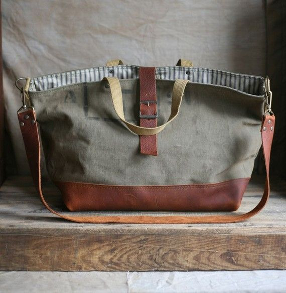 recycled tote bag / carryall