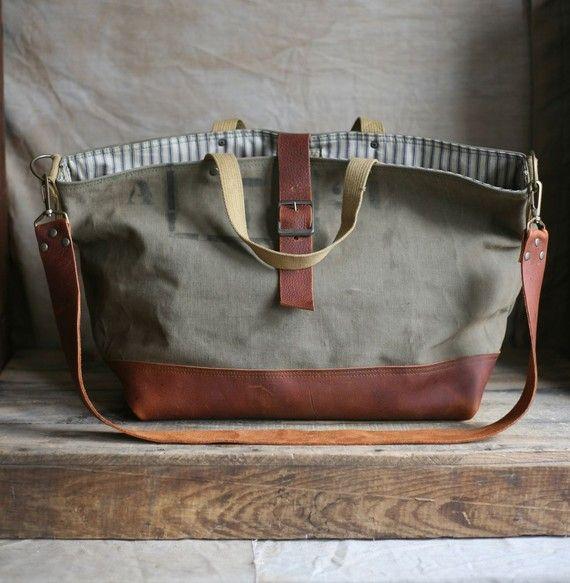 recycled tote bag / carryall @Brit Morin #totes