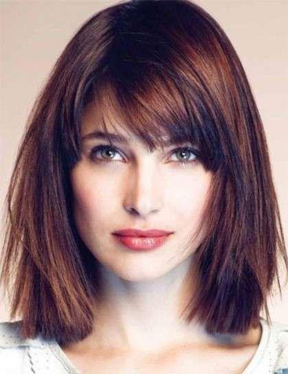 Cortes de cabello para cara cuadrada 2015: Fotos de los mejores - Bob medio con capas y volumen