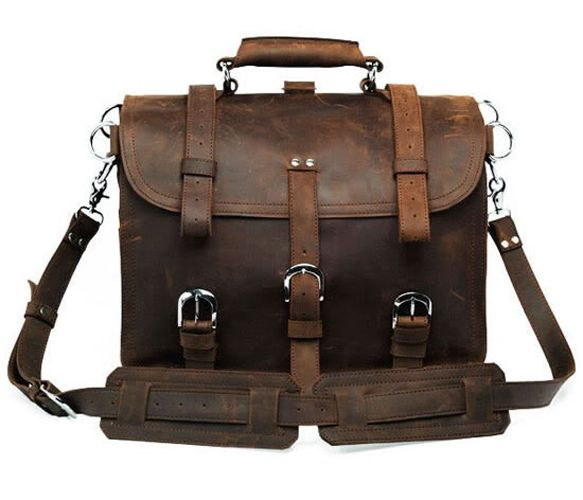 Large Leather Travel Bag