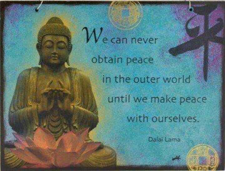 Being at Peace buddah quote