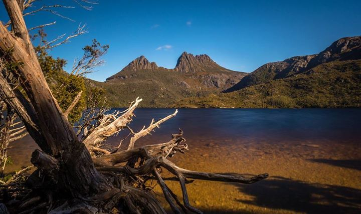 A sunny + clear day at the famous Cradle Mountain, Lake St Clair National Park, TAS - Photo by Ben Maze