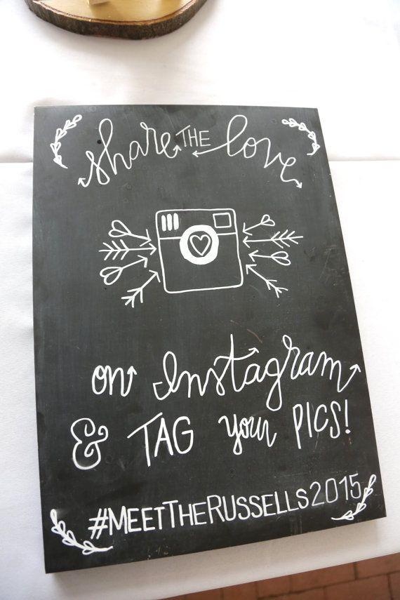 Instagram wedding sign decor wedding hashtag by for Decor hashtags