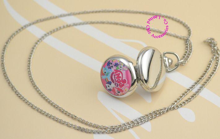 nieuwe-mode-goede-kwaliteit-beeld-roze-schattige-my-little-pony-zakhorloge-ketting-zilveren-vrouwen-dames-meisje.jpg (710×450)