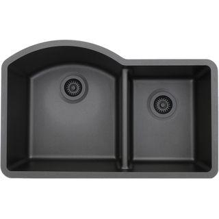 Lexicon Platinum Offset Double Bowl Quartz Composite Kitchen Sink | Overstock.com Shopping - The Best Deals on Kitchen Sinks