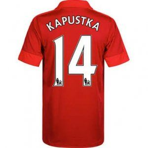 16-17 Leicester City Cheap Away Kapustka #14 Replica Football Shirt [I00297]