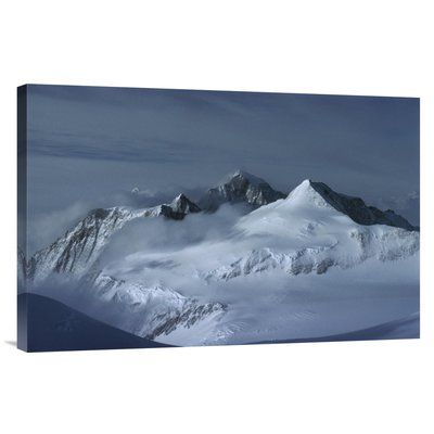 East Urban Home Antarctica Towards Mt Shinn and Mt Tyree 'View at Midnight From Vinson Massif' Photographic Print on Wrapped Canvas Size: