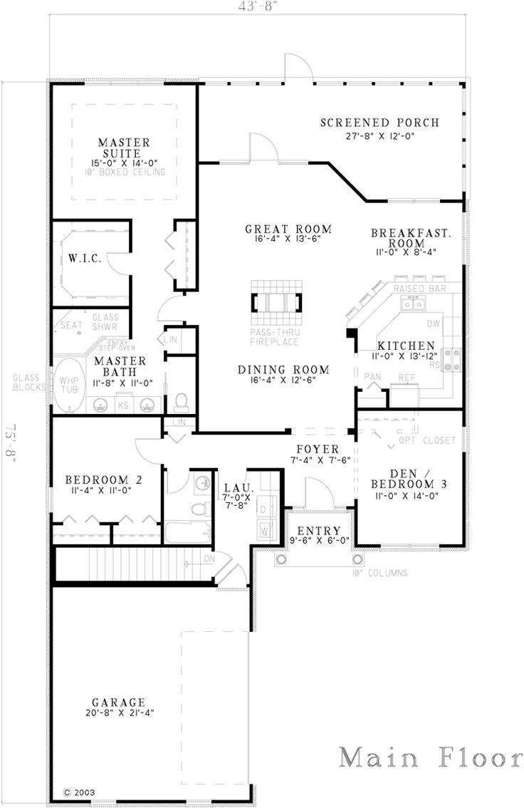 919 best house plans small er images on pinterest for 1800 sq ft bungalow floor plans