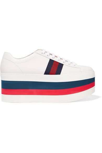 Gucci - Leather Platform Sneakers - White