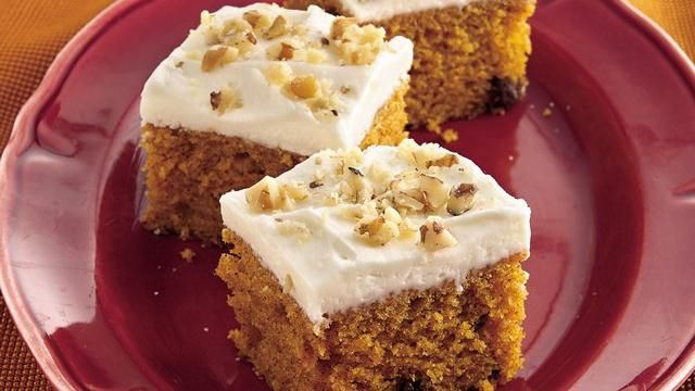 Pumpkin-Spice Bars with Cream Cheese Frosting | Recipe