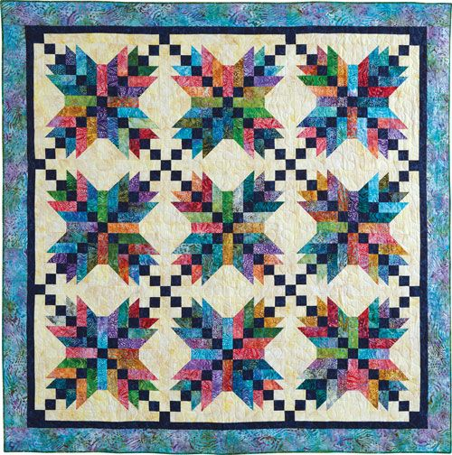 I Am In Love Jamaican Stars Kit For 86 Quot Square Quilt 22