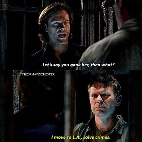 """Supernatural 11x10 The Devil in the Details  Lucifer making a jab at the show, """"Lucifer"""""""