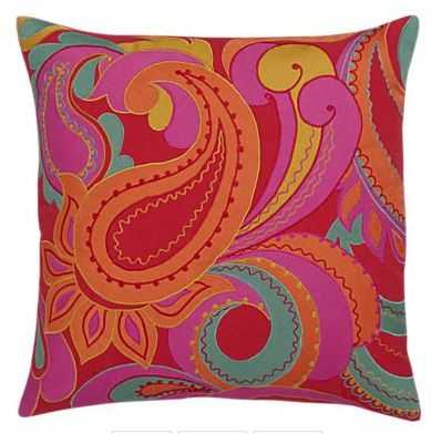 Pink and orange throw pillow from Crate and Barrel. Favorite Places & Spaces Pinterest ...