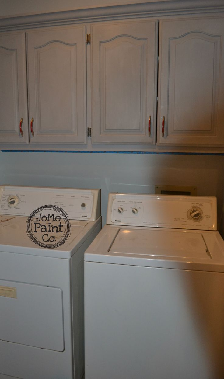 Cabinets done in Annie Sloan Chalk Paint Paris Grey Check out JoMo