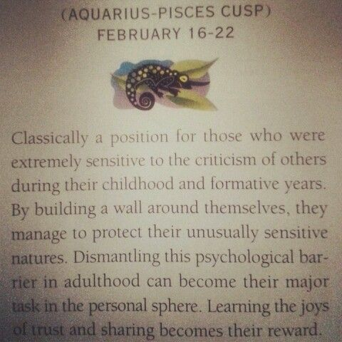 Aquarius-Pisces Cusp- walls, yes, I think I've realized that recently.