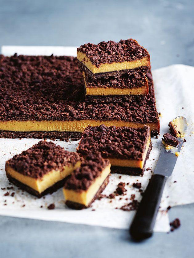 Chocolate Caramel Crumble Slice | Donna Hay