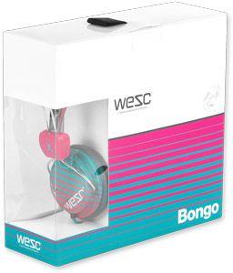 BONGO HEADPHONES PICS  | WeSC Gradiant Stripe Bongo Kopfhörer beetroot