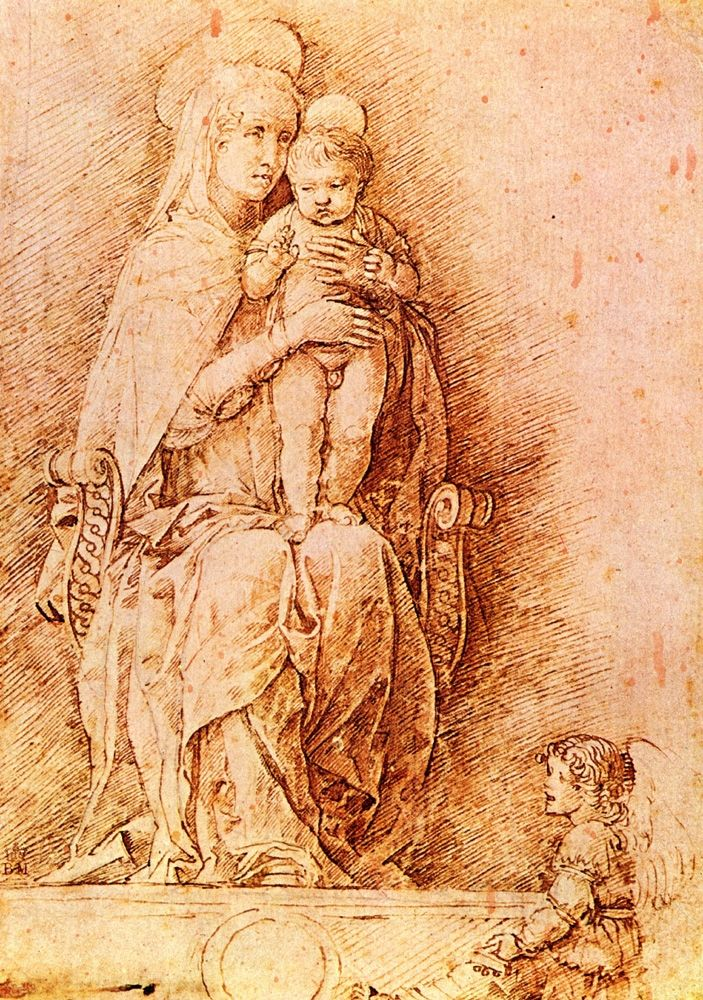 Andrea Mantegna - Madonna and Child. Italian Early Renaissance (ca.1431-1506).
