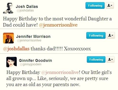 Josh Dallas, Jennifer Morrison and Ginnifer Goodwin