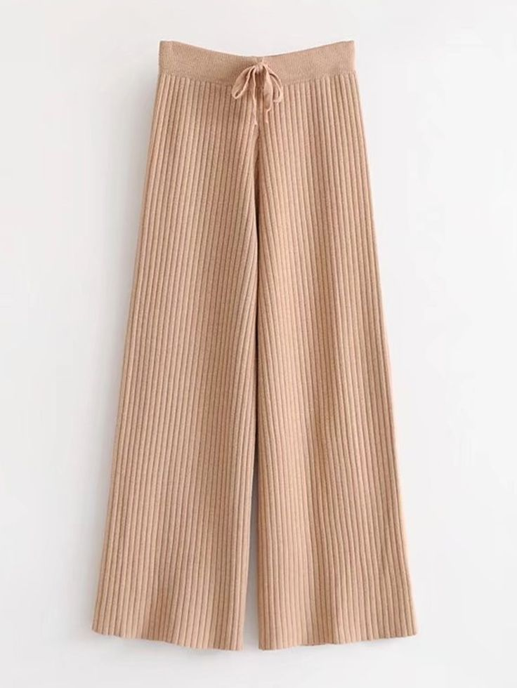 Shop Drawstring Waist Rib Knit Pants online. SheIn offers Drawstring Waist Rib Knit Pants & more to fit your fashionable needs.