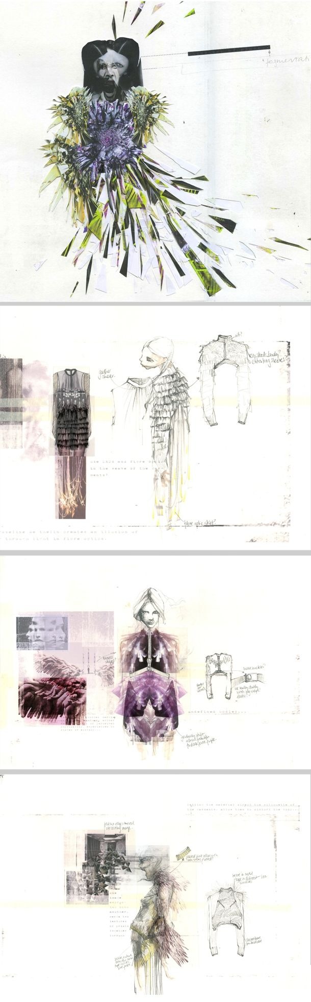 Fashion design sketchbook - concepts, drawings, design development - Jousianne Propp