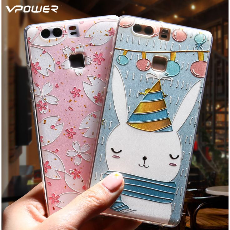 Cheap case cover for iphone 3gs, Buy Quality case razr directly from China case Suppliers: Vpower For Huawei P9 Case 3D Relief Cartoon Back Cover Soft Silicone Phone Cover Cases For Huawei Ascend P9 Plus