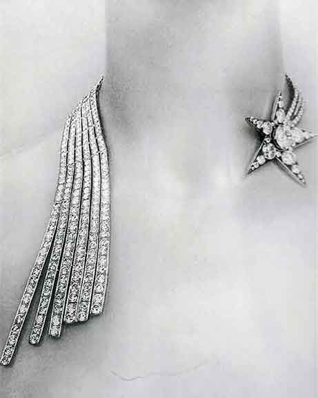 Chanel falling star necklace from 1932Shooting Stars, Coco Chanel, Fashion, Shoots Stars, Victoria Secret, Gift Cards, Art Deco, Diamonds Necklaces, Vintage Chanel