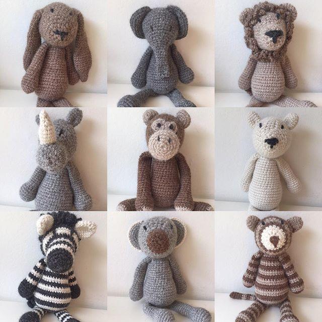 WEBSTA @ sofieeandre - ~ h e j d å A u g u s t i ~ #virka #virkat #hekle #hekling #hækle #hækling #amigurumi #edsanimals #augusti #september #dropsalpaca #crochet #crocheting #animals #elefant #lion #zebra #bf2016 #crochetamigurumi