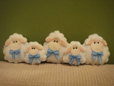 Little Felt Sheep! Cute ^.^