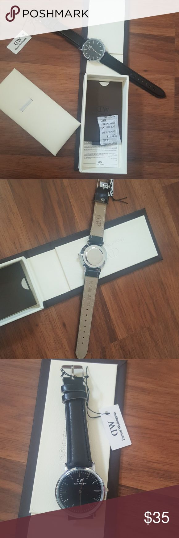 Daniel Wellington watch Daniel Wellington watch 36mm  Black leather new with box & Other Stories Accessories Watches
