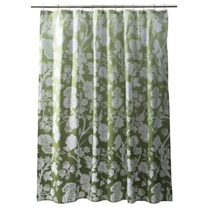 Threshold153 Wasabi Green Ombre Floral Shower Curtain