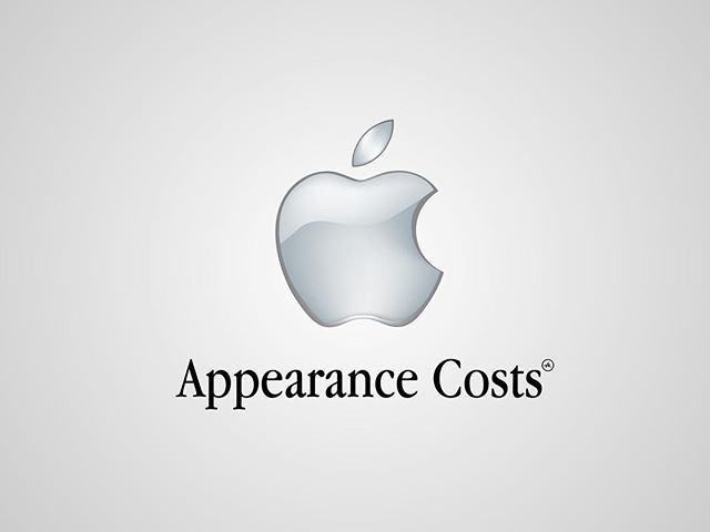 I thought I'd post my previous series of #honestlogos from 2011 - #13 Appearance Costs. #adbusting #parody #logo #satire #graphicdesign #viktorhertz #apple #computers