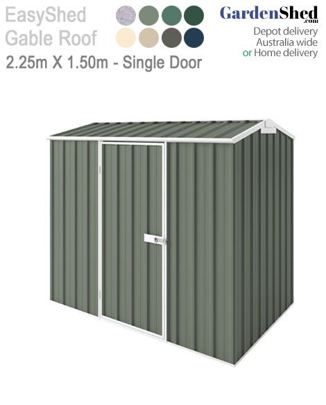 Small yet heaps of storage space. Easy Sheds are the most durable on the market. Extra Wall height options and sliding doors too.