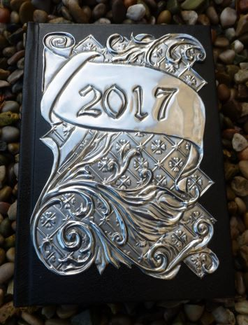 A5 Week-to-view handcrafted pewter diary by Caroline from @ Pewter Concepts