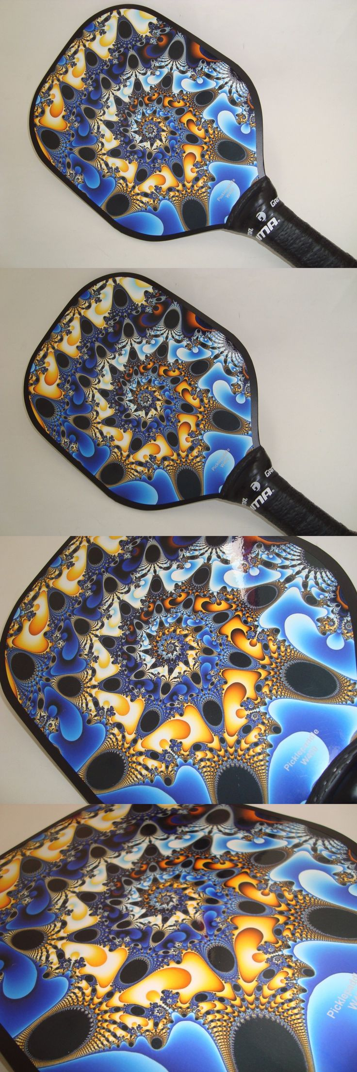 Other Tennis and Racquet Sports 159135: Super New Pickleball Paddle Widebody Pickleball Starburst Fractal W400 -> BUY IT NOW ONLY: $38.99 on eBay!