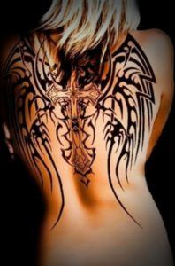 Creative Aztec Tribal Tattoo Designs on Back