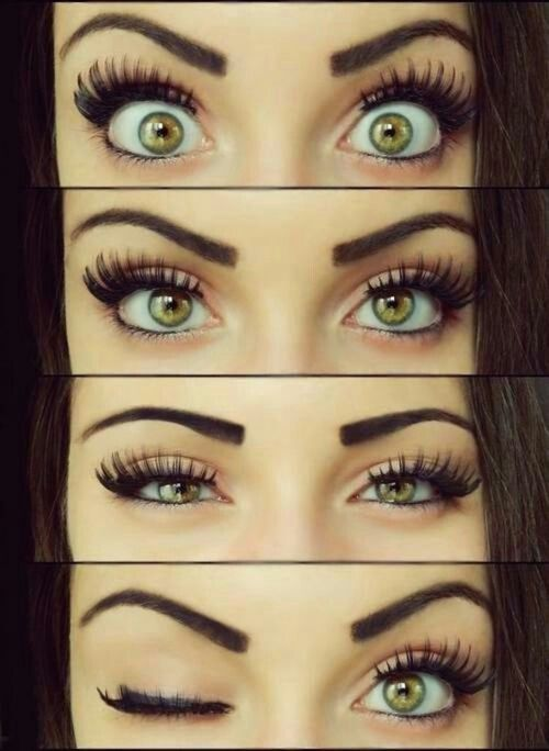 pretty eyes and makeup:)