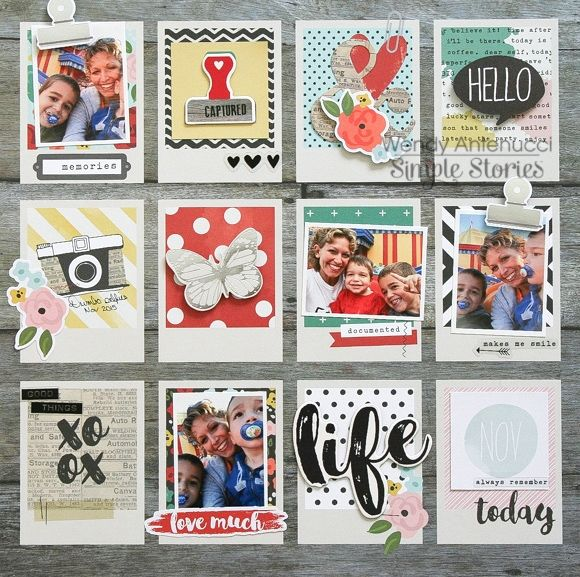 Simple Stories Life In Color Scrapbook Layout by Wendy Antenucci