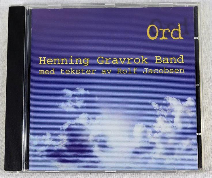 Henning Gravrok Band 1998 Med Tekster Av Rolf Jacobsen Ord Album CD Jazz Poetry #JazzFolk1990sNonMusicWorldCountryPoetry