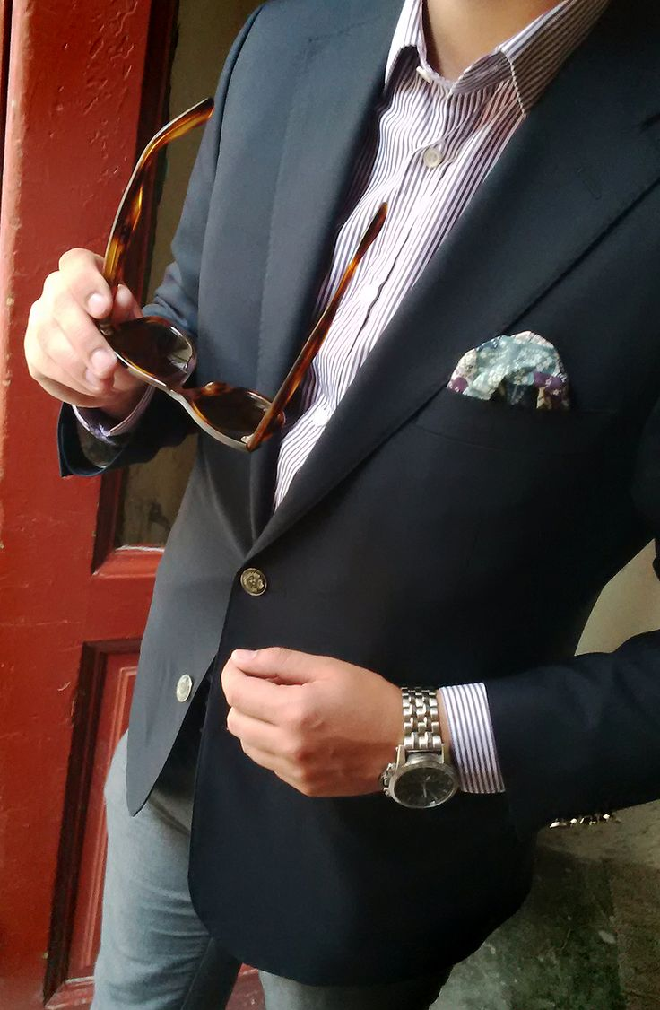 Mr. TC wearing a beautiful Corneliani blazer + Ray Ban sunglasses!