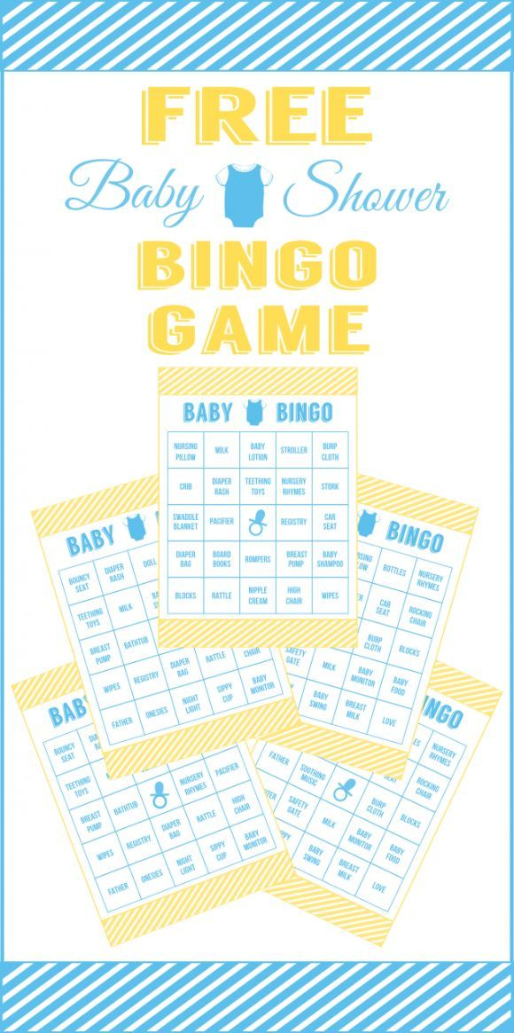 Free Printable For 12 Months Of Pre Planned Date Nights: Free Baby Shower Bingo Printable Cards For A Boy Baby Shower