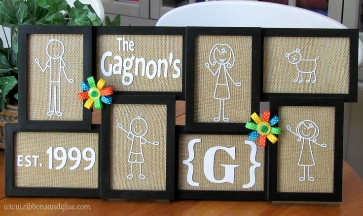 DIY Me and My Peep personalized Family Picture Frame