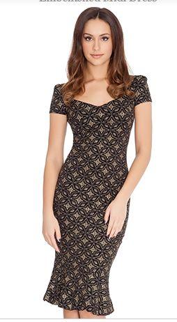 Checkerboard Pencil Dress