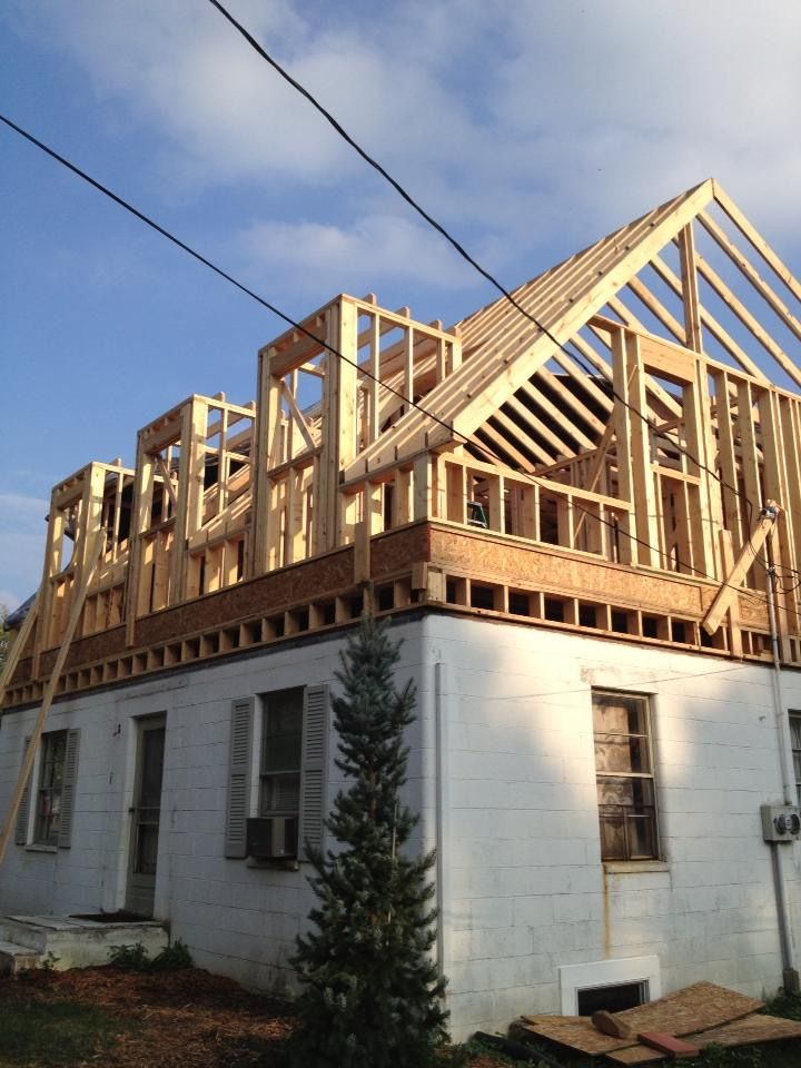 32 best our house construction done by my husband a for Cape cod second floor addition