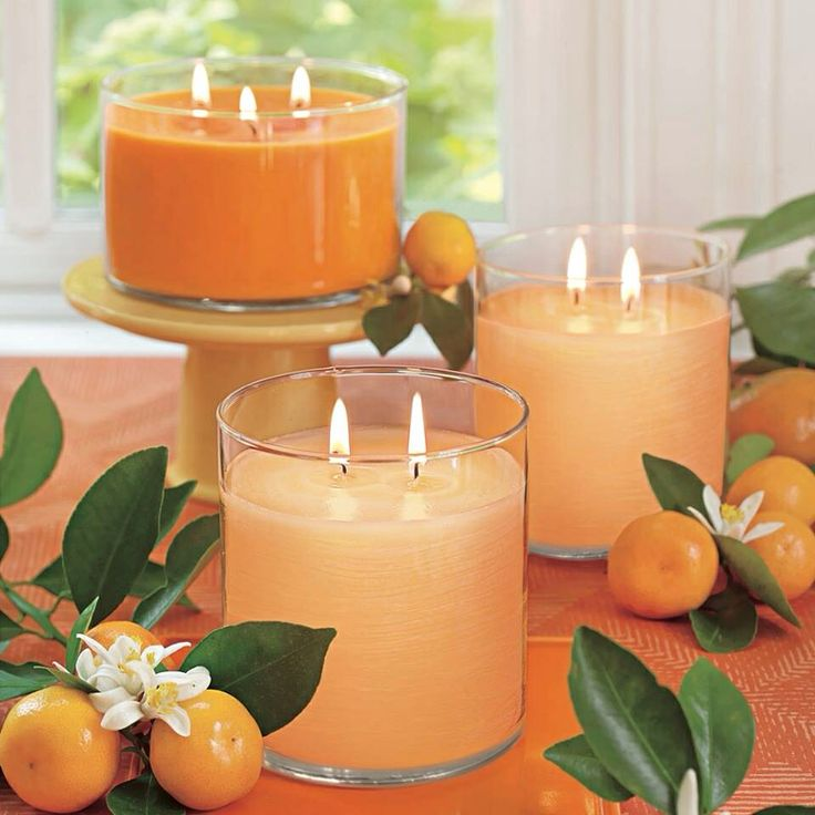 Orange themed Candles