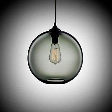 Verre Lumière pendante moderne en rond de fumée grise Bubble Conception – EUR € 82.49